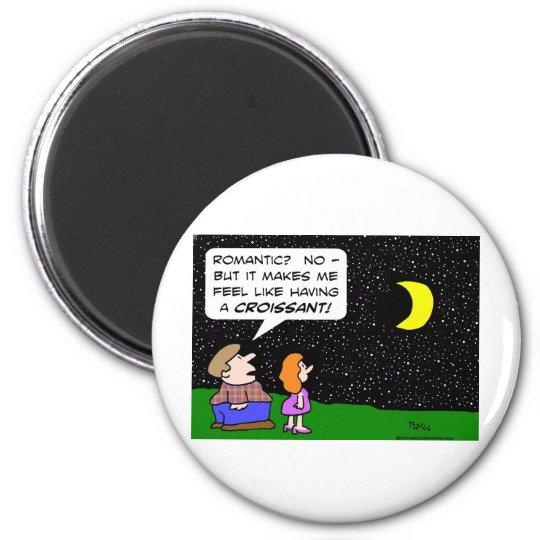 moon romantic fat croissant magnet