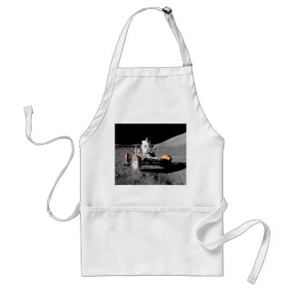 Moon Rover - Watch For Pedestrians! Adult Apron