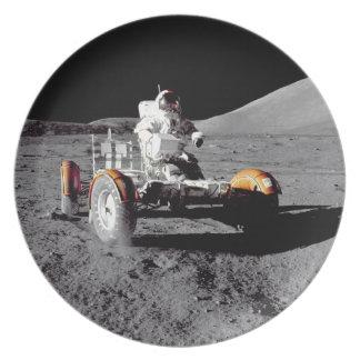 Moon Rover - Watch For Pedestrians! Dinner Plate