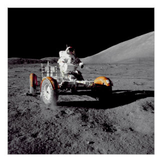 Moon Rover - Watch For Pedestrians! Poster