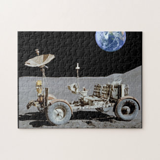 Moon Rover With Earth Added To The Background Jigsaw Puzzle