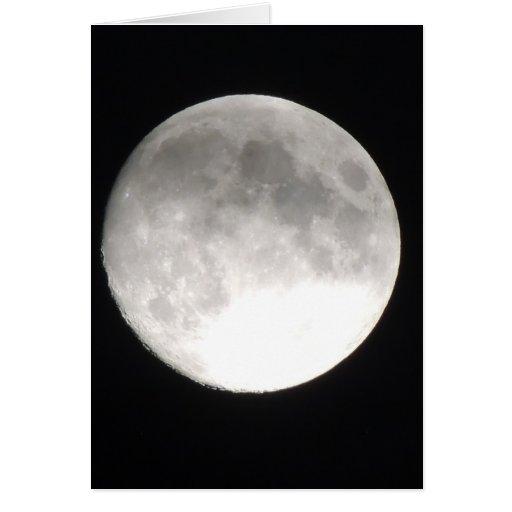 Moon satellite greeting card