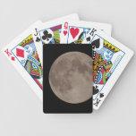 Moon satellite lunar moonlight bicycle poker cards