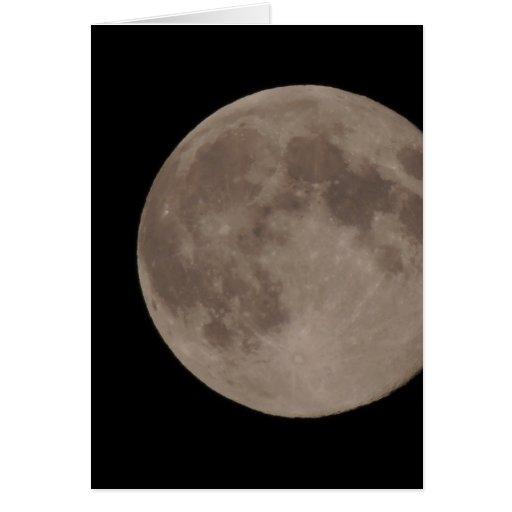 Moon satellite lunar moonlight card
