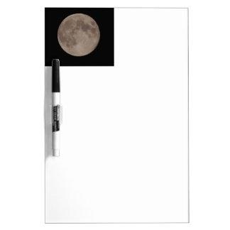 Moon satellite lunar moonlight dry erase whiteboards