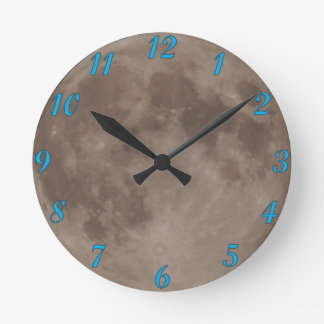 Moon satellite lunar moonlight round clock