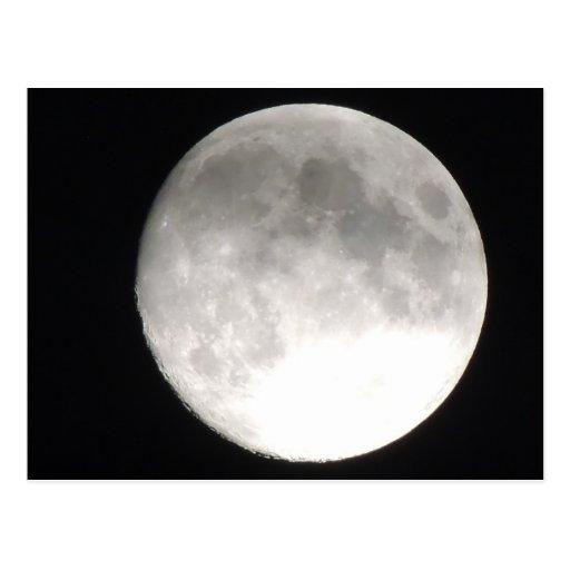 Moon satellite postcards