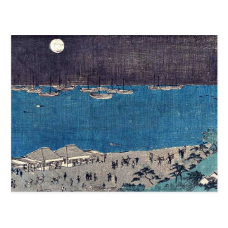 Moon scene at Takanawa by Andō, Hiroshige Ukiyo-e Postcard