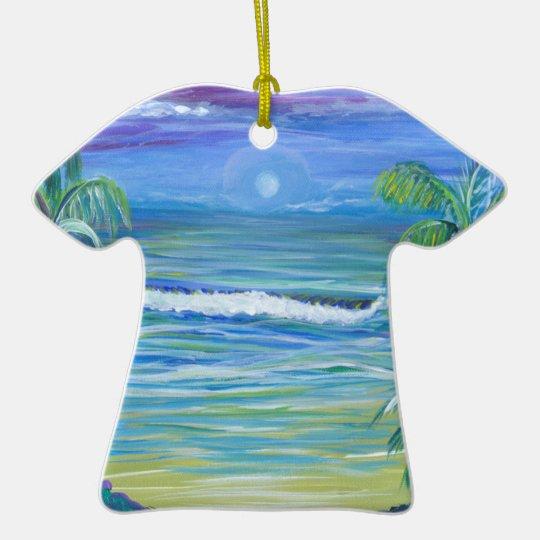 Moon Set Christmas tree ornament aloha shirt