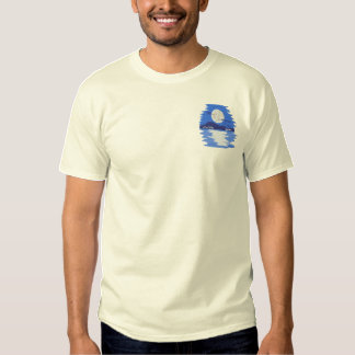 Moon Shining On Water Embroidered T-Shirt