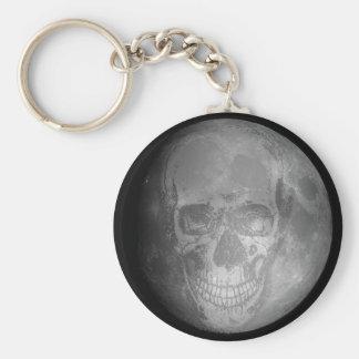 Moon Skull Keychain