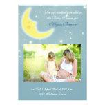 Moon sky baby shower invitation