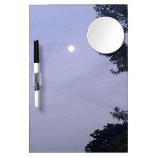 Moon sky dry erase board with mirror