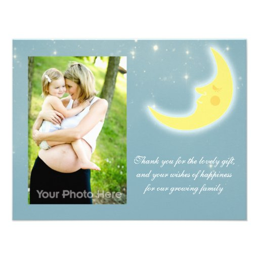 Moon sky thank you card invitations