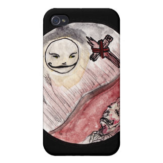 Moon Smiling at Corpse iPhone 4 Cases