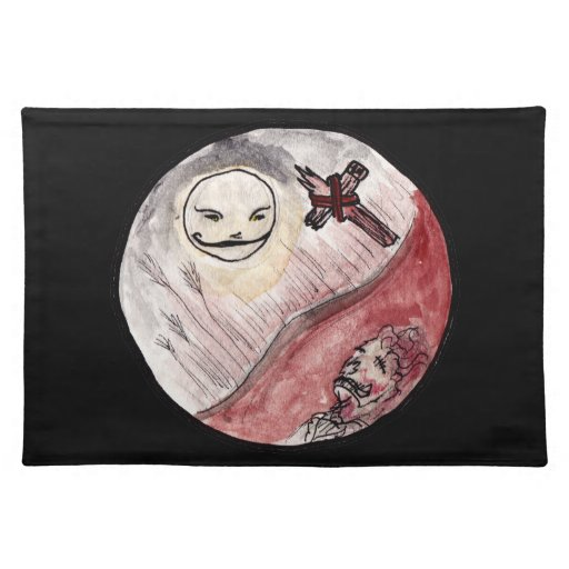 Moon Smiling at Corpse Place Mats