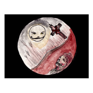 Moon Smiling at Corpse Postcard