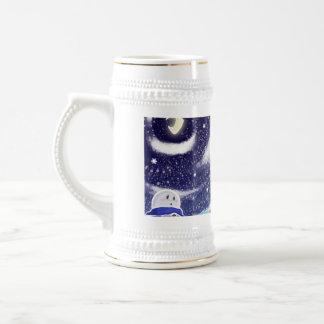 Moon Snow Stein 18 Oz Beer Stein