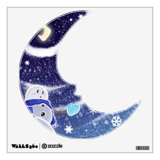 Moon snow wall sticker