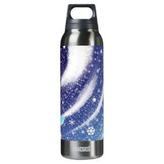 Moon Snow Water Botter Insulated Water Bottle