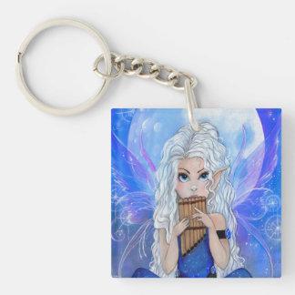 """Moon Song"" fairy fantasy music keychain"