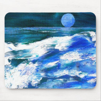 Moon Song Mousepad by CricketDiane Ocean Art Mouse Pad