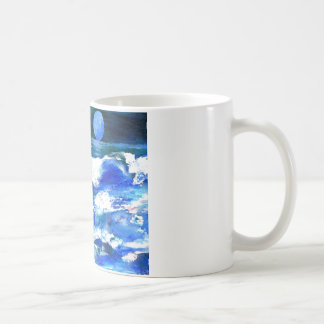 Moon Song Ocean Waves Art - CricketDiane Coffee Mug