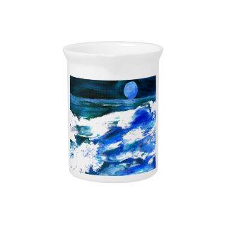 Moon Song Ocean Waves Art - CricketDiane Pitchers