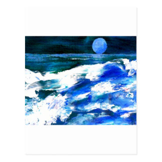Moon Song Ocean Waves Art - CricketDiane Postcard