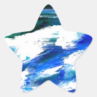 Moon Song Ocean Waves Art - CricketDiane Star Sticker