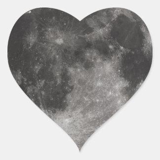 Moon Space Office Party Shower Peace Love Art Heart Sticker