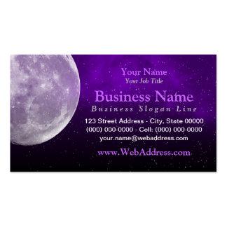 Moon Space Photo Business Card - Purple