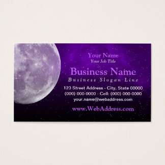 Moon / Space Photo Business Card - Purple