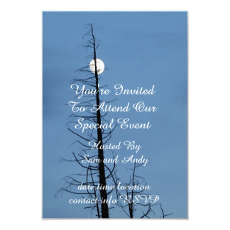 Moon Speared By Tree Card