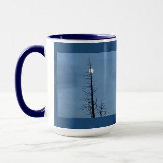 Moon Speared By Tree Mug