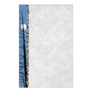 Moon Speared By Tree Personalized Stationery