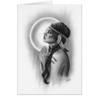 Moon Spirit Native Girl Greeting Card