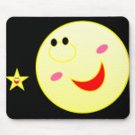 Moon&Star feliz Mousepad Alfombrilla De Raton
