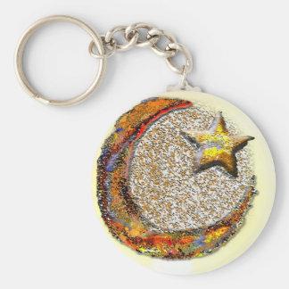 Moon-Star -Islam Basic Round Button Keychain