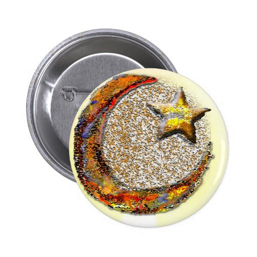 Moon-Star -Islam Pinback Buttons