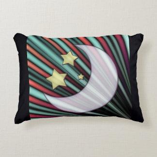 Moon, Stars, & Rising Sun Accent Pillow