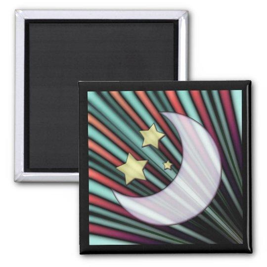 Moon, Stars, & Rising Sun Magnet