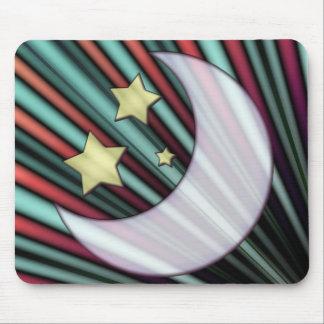 Moon, Stars, & Rising Sun Mouse Pad