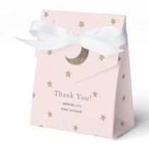 Moon & Stars Blush Pink Baby Shower Gift Box