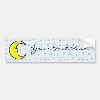 Moon & Stars Bumper Sticker