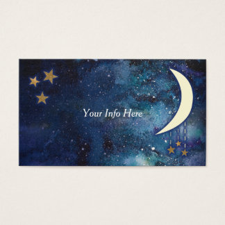 Moon & Stars Business Card