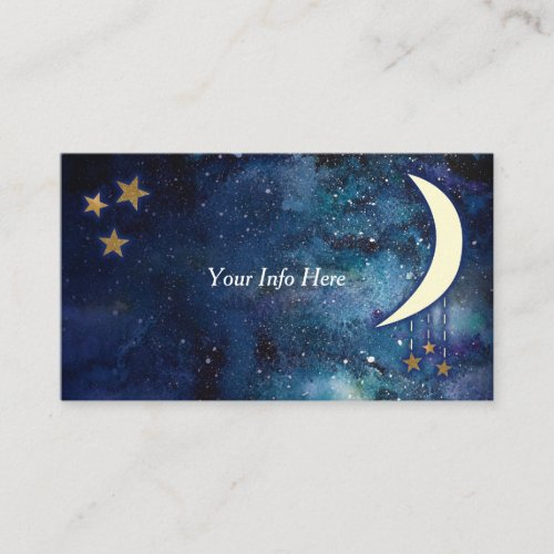 Moon  Stars Business Card