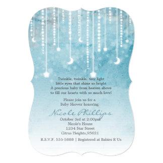 Moon & Stars Celestial Baby Shower Invitation