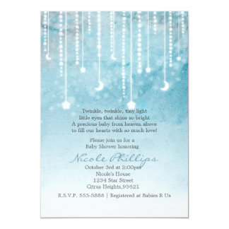 Moon & Stars Celestial Baby Shower Invitation