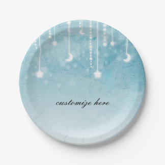 Moon & Stars Celestial Baby Shower Party Paper Plate